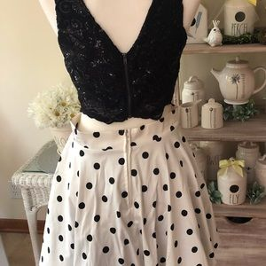 two piece formal dress homecoming